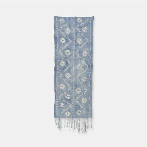 ブルキナファソ モシ族 ヴィンテージの藍染め布 絞り Sli010 藍染め ブルキナファソ ヴィンテージ