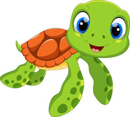 Cute Sea Turtle Cartoon Isolated On White Background Cartoon Turtle Cute Baby Turtles Cute Turtle Drawings
