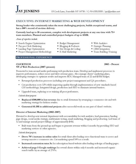 Internet Marketer Free Resume Samples Blue Sky Resumes Nails