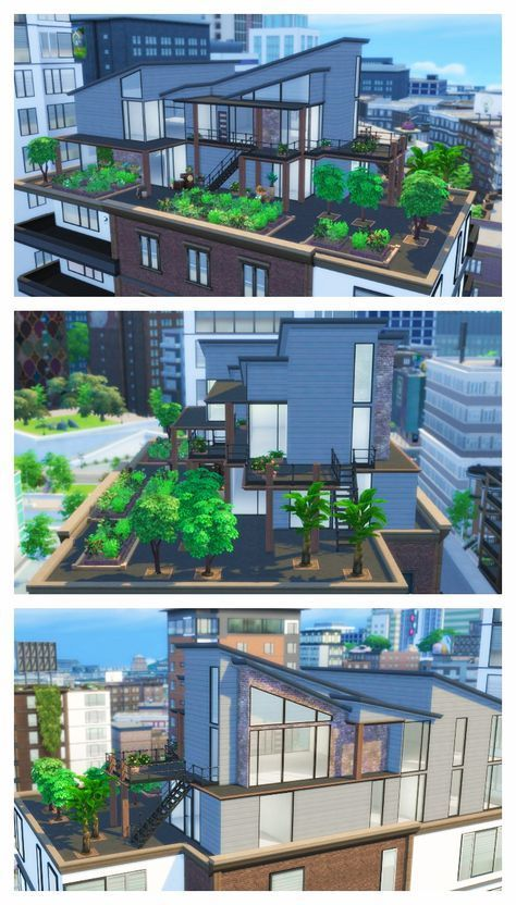 The Sims 4 Speed Build Eco Living Penthouse Part 1 Sims Haus Sims 4 Hauser Hausbau Ideen