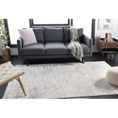 17 Stories Raffaela Abstract Cream Gray Area Rug In 2021 Grey Couch Living Room Rugs In Living Room Dark Grey Couch Living Room