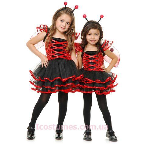 Детские костюмы :: Костюмы для девочек :: Костюм Прелестная Божья коровка детский