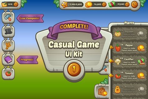 List of ui kit game creative pictures and ui kit game