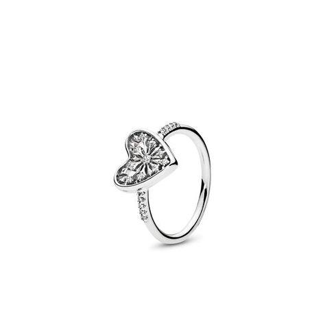 anello argento cuore pandora