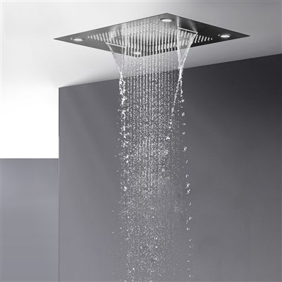 Buy Trialo Solid Brass Recessed Color Changing Water Powered Led Shower Head Online In 2020 Led Shower Head Shower Heads Modern Shower