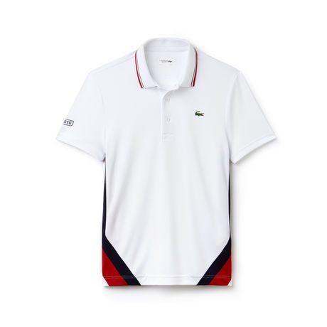 Men S Sport Colorblock Bands Technical Pique Tennis Polo Polo Shirt Design Mens Polo T Shirts Lacoste Sport