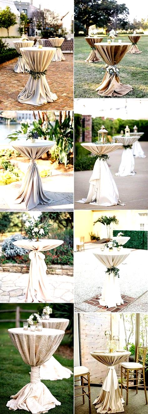 elegant neutral wedding cocktail tables,  #cocktail #elegant #fallneutralwedding #Neutral #tables #Wedding