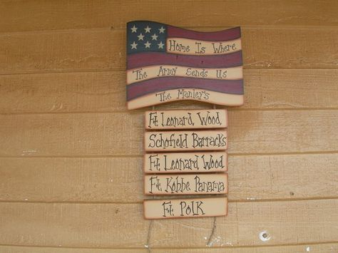 duty station sign . . . want to make