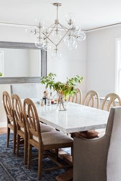 A Classic Home Tour Full Of Gorgeous Pattern Modern Dining Room
