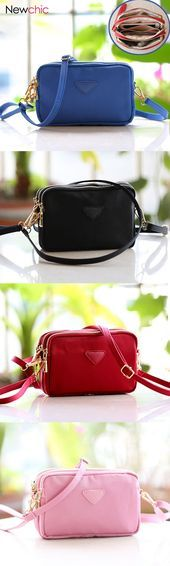 Women Water Resistant Multi-slot Clutch Bags Nylon Solid Mini Crossbody Bags is designer, see other cute bags on NewChic.
