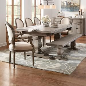 Home Decorators Collection Aldridge Extendable Dining Table Nb023ag The Home Depot French Country Dining Room Country Dining Rooms Country Dining