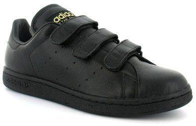 omitir Dar Soledad  Mens Adidas Stan Smith Black Velcro Trainers - Black - UK 4.5 | Sneakers  fashion, Sneakers men, Running shoes for men