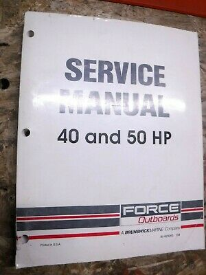 40 50 Hp Original Factory Service Manual This Is The Manual You Need If You Have One Of These Vehicles Manual Is In Mostly Good Cond Force Manual Service