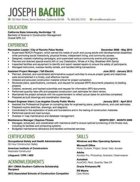 general contractor resume examples construction samples - general contractor resume