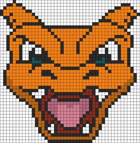 Pokemon Battle Trozei Charizard Bead Pattern Pixel Art