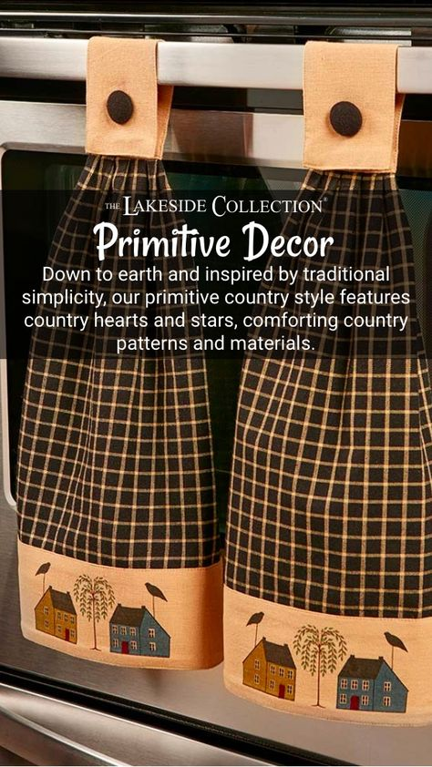 Proudly taking inspiration from the modesty and necessity of a simpler time, primitive decor champions the earlier roots of country decor, and pairs well with classic country themes, rustic accents and Americana. #countrydecor #primitive #primitivecountry #heartsandstars #countrypatterns #countryliving #countrystyle