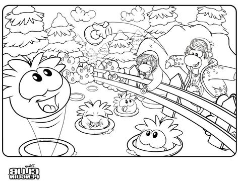 Best Club Penguin Coloring Pages Of Rockhopper - http ...