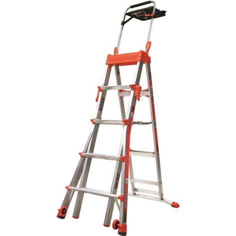 Little Giant Ladders Select Step 8 Ft Aluminum Type 1a 300 Lbs Capacity Telescoping Step Ladder 15125 001 In 2020 Little Giants Ladder Costco