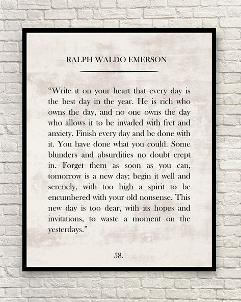 Ralph Waldo Emerson Print, Ralph Waldo Emerson Quote, Custom Art Print, Book Page Art Print, Classic Book Page Print, Wall Art.