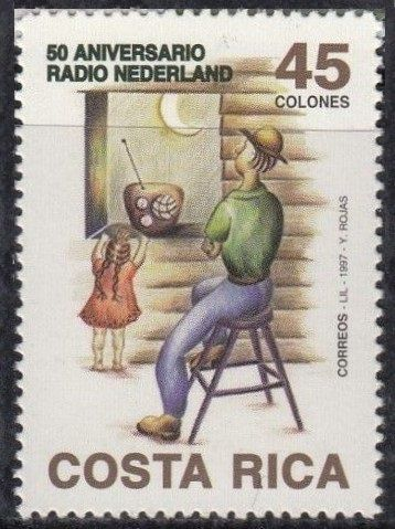Stamp: Radio Nederland (Costa Rica) (50th anniversary Radio Nederland)  Mi:CR 1485,Sn:CR 498   Estampillas, Sellos, Sellos postales