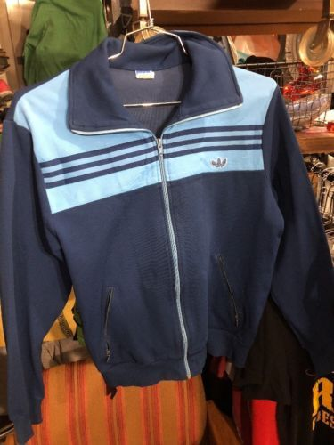 Vintage 80s 90s adidas originals track top Made In W Germany