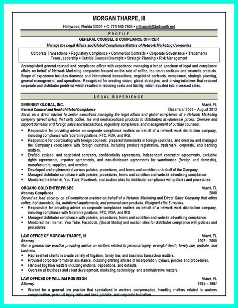 cool Best Compliance Officer Resume to Get Manageru0027s Attention - regulatory compliance officer sample resume
