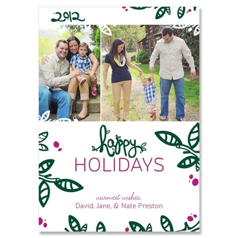 Twiggy - Garland - Unique Holiday Card by The Green Kangaroo