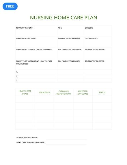 Nursing Home Care Plan Template Free Pdf Google Docs Word Pdf Template Net Nursing Home Care Care Plan Nursing Care Plan