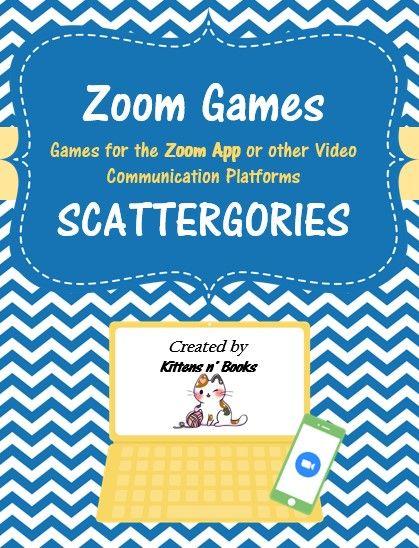 Zoom Games Scattergories Scattergories Meeting Games Digital Learning