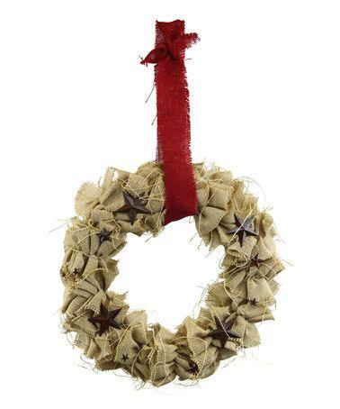 Look at this #zulilyfind! Jute Wreath #zulilyfinds