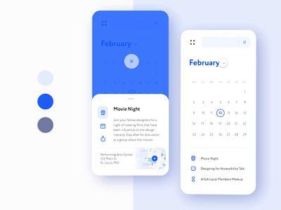 Designer Meetups App: Component States