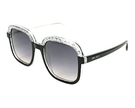 52a2844037c Jimmy Choo Glint S Sunglasses Black Glitter Gray Dark Gray Gradient ...