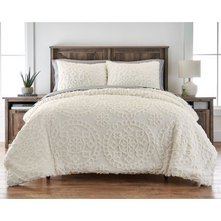 Better Homes And Gardens Tufted Global Ivory 3 Piece Comforter Set King Walmart Com In 2020 Master Bedroom Comforter Sets Home Comforter Sets