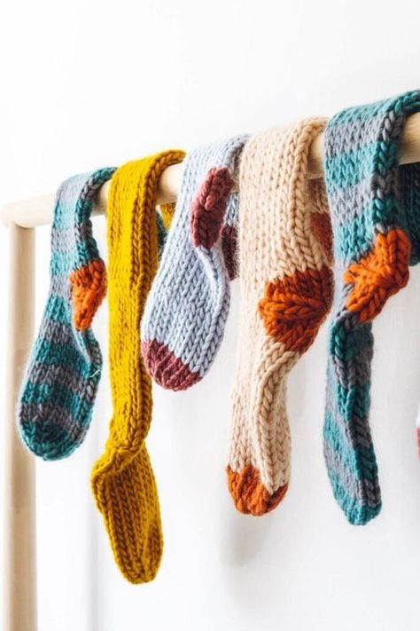 Make your own chunky knit socks perfect for fall with a DIY pattern!
