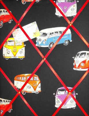 Large Clarke  Clarke Vintage Car Hand Crafted Fabric Notice  Pin