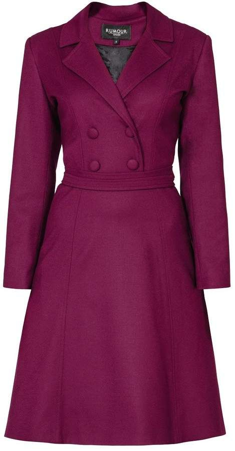 Mulberry Rumour London - Annabel Virgin Wool Dress With Pleated Back