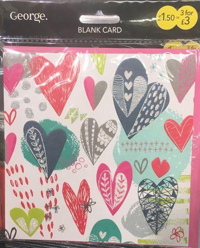 Print Pattern Cards George At Asda Cards Greeting Card Design Valentines Design