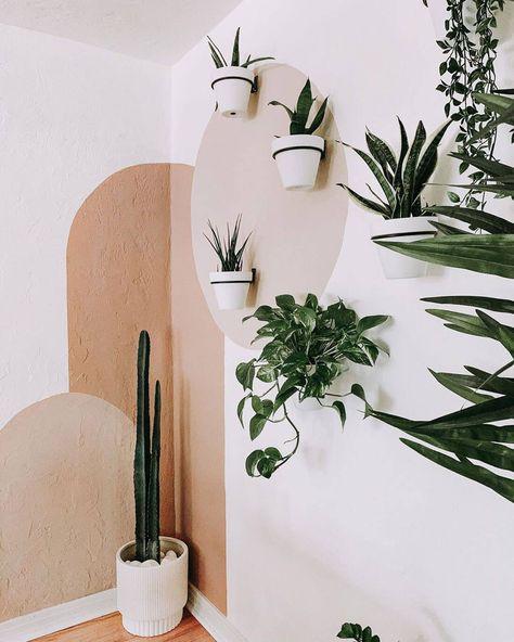 Diy Bedroom Decor, Diy Home Decor, Bedroom Wall Designs, Bathroom Designs, Bedroom Colors, Aesthetic Room Decor, Plant Aesthetic, Organic Modern, Plant Decor