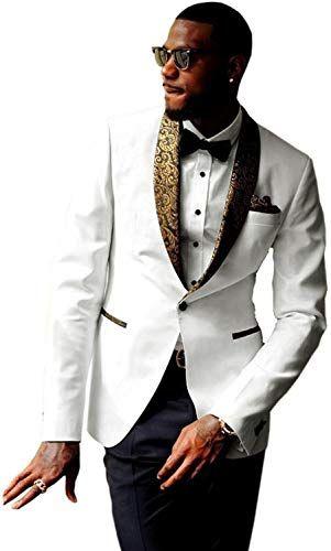JYDress Mens 2 Piece Suit Casual Wedding Bridegroom Dress Set for Party
