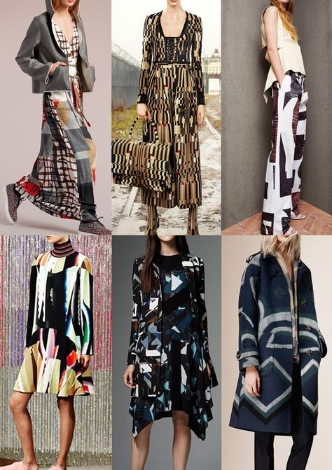 GEOMETRICS Pre_Fall_2015_Print_trends_geometrics Geometric overlays_colour blocked checks_deconstructing blocks_air brushed edges_over-scaled geometrics