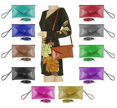 Damen Wet Look Lackleder Einkaufstasche Messenger Schulter Umhängetasche