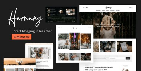 Harmuny — A Responsive WordPress Blog Theme | Stylelib
