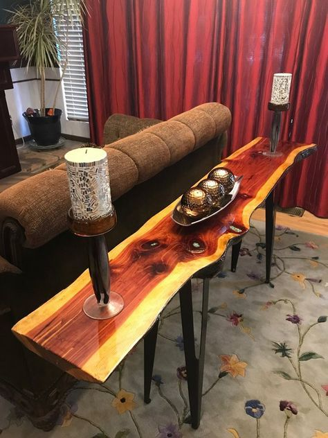 Sofa Table Entryway Table Console Table Live Edge Table Resin