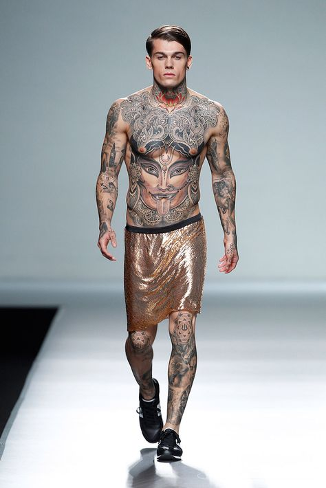 Carlos Diez presented his Spring/Summer 2014 during Mercedes-Benz Fashion Week Madrid.