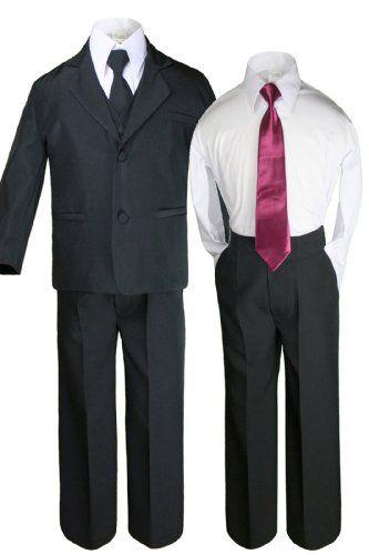 7pc Boys White Satin Shawl Lapel Suits Tuxedo EXTRA Yellow Necktie /& Vest Set