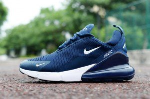 sports shoes 7ee70 afad2 Mens Nike Air Max 270 Navy Blue White Sneakers | Nike Air ...