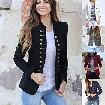 Veste à manches longues pour femme Automne Slim à manches longues Blazer Outwear