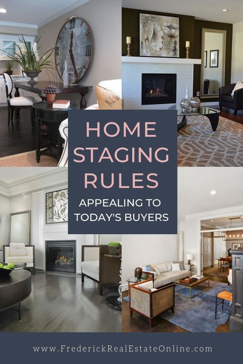 15 Staging Rules For Home Sellers Staging your home is like getting ready for a first date! Here's how to make a fetching first impression:Staging your home is like getting ready for a first date! Here's how to make a fetching first impression: Sell Your House Fast, Selling Your House, Real Estate Staging, Home Staging Tips, House Staging Ideas, Home Buying Tips, Farmhouse Side Table, Thing 1, Cool Rooms