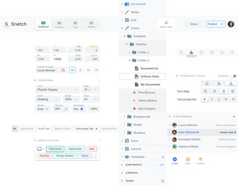 Desktop design templates. Material UI for dashboards, software and web tools