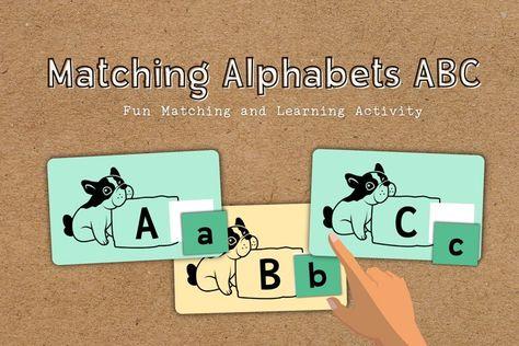 Matching Alphabets ABC Educational Flashcards